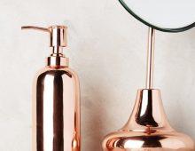 Onde comprar itens de decoração cobre e rosê